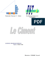 Chapitre - Le Ciment