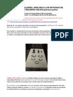 Tesoros Peninsulares. Análisis a Los Estudios de Ruiz-gálvez y de Eduardo Galán Parte 1ª,2ª y Tablas Correlativas