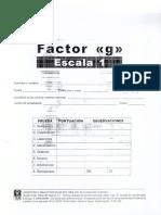 Factor g Escala 1