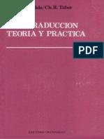33660715 Eugene Albert Nida Charles Russell Taber La Traduccion Teoria y Practica