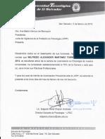 Ejemplo de carta de solicitud para carnet provisional