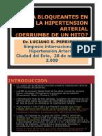 BETA BLOQUEANTES EN LA HIPERTENSION ARTERIAL ¿DERRUMBE DE UN HITO?