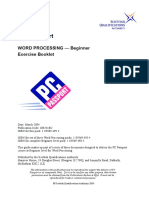WordProcessing Beginner Exercise Booklet
