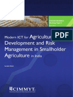Modern ICT for Agricultural Development and Risk