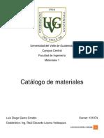 Catalogo Maeriales