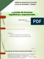 Calculo de Derivadas de Funciones Logaritmicas y Exp (1)