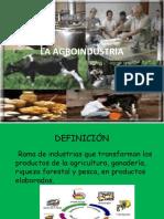 15. La Agroindustria