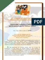 Programa Jornadas Extensin e Investigacin FTS UNLP