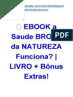 ᐅ A Saude Brota da Natureza Livro DOWNLOAD GRÁTIS? | LIVRO + Bônus Extras!!
