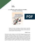 La Crisis de La Educacion en Colombia