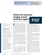 Ultrasound Clinical 3d Imaging Beyond Obstetrical Applications