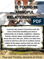 JOY IS FOUND IN MEANINGFUL RELATIONSHIPS.ppt