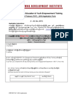 CPEYET 2018 TOT Application Form