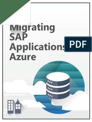 Migrating SAP Applications to Azure (1) | Databases | Sap Se