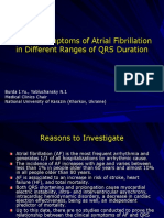 Clinical Symptoms of Atrial Fibrillation  in Different Ranges of QRS Duration