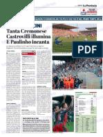 La Provincia Di Cremona 16-09-2018 - Luci Allo Zini