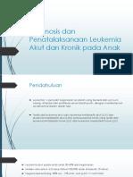 Diagnosis Dan Penatalaksanaan Leukemia Akut Dan Kronik