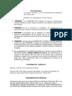 Pretensiones y Fundamentos de Derecho