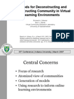 Methods for Deconstructing and Reconstructing Community in Virtual Learning Environments