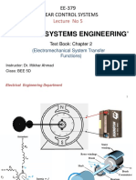 5-Lecture 05   Electromechanical Systems Transfer Functions.pptx