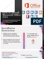 How to Install Microsoft Office 2013