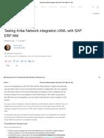 Testing Ariba Network Integration CXML With SAP ERP MM _ SAP Blogs
