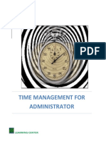 Time Management for Administrator