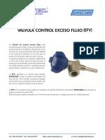 Valvula Control Exceso Flujo (Efv)