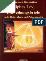 Lévi, Eliphas - Einweihungsbriefe in Die Hohe Magie Und Zahlenmystik (Levi)