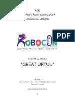 Robocon 2019 Mongolia RULEBOOK