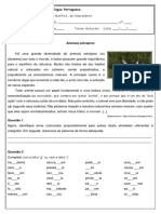 Lista de Exercícios - Ortografia J Ou G - 7º Ano