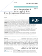 Women's approval of domestic physical violence against wives- analysis of the Ghana demographic and health survey.pdf