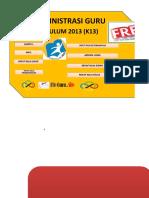 Administrasi Guru Kurikulum 2013 SD Format Excel