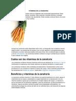 Vitaminas de La Zanahoria