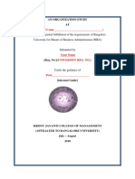 An Organization Study