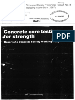 CS TR 11 Concrete Core Testing for Strength