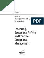 Management Leadership in Education U4