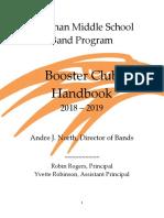 booster club handbook