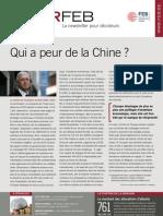 Qui a peur de la Chine ?, Infor FEB 32, 7 octobre 2010