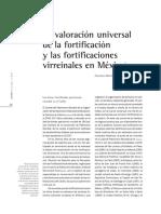 La valoración universal de la fortificación y las fortificaciones virreinales en México