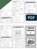 Tabla de Integrales 2014