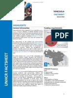 UNHCR Venezuela fact sheet 2018