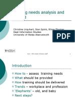 Training Needs Analysis and Beyond