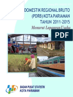 Produk Domestik Regional Bruto (PDRB) Kota Pariaman Menurut Lapangan Usaha 2011-2015.docx