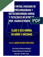 ECG y VCG Normal en Niños y Ancianos