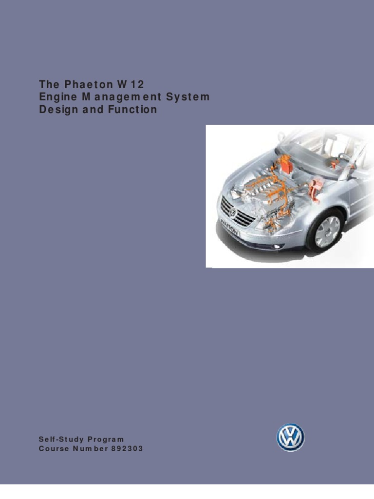 892303 The Phaeton W12 Engine Management System Throttle Fuel Wiring Diagram Injection