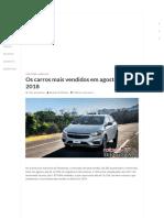 04 - Os Carros Mais Vendidos Em Agosto de 2018