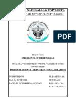 SHUBHAM FINAL DRAFT POLITICAL SCIENCE SECOND SEMESTER.docx