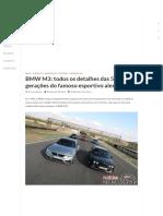 05 - BMW M3_ Todos Os Detalhes Das 5 Gerações Do Famoso Esportivo Alemão