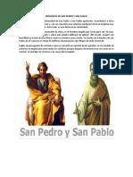 Biografía de San Pedro y San Pabl1